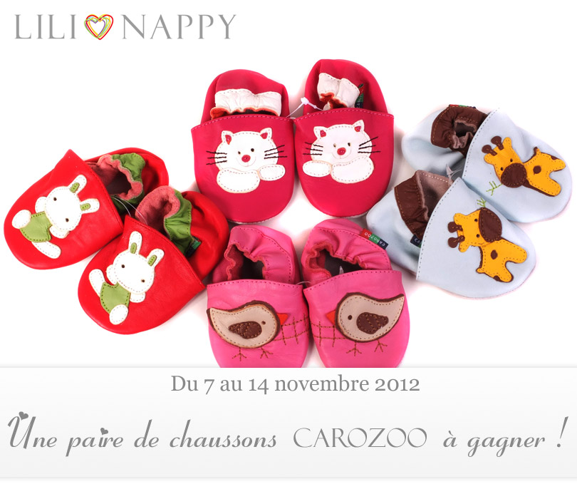 concours - chaussons carozoo à gagner