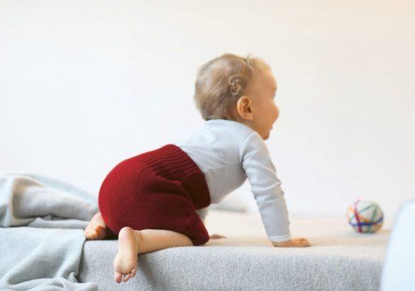 change bébé en laine