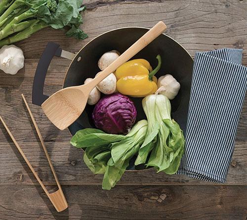 Cuillère en bambou pour une cuisine zéro déchet