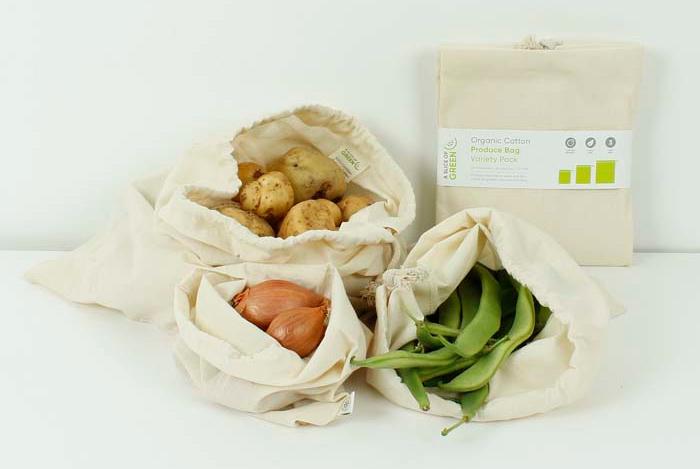 sachet en tissu fruits et légumes