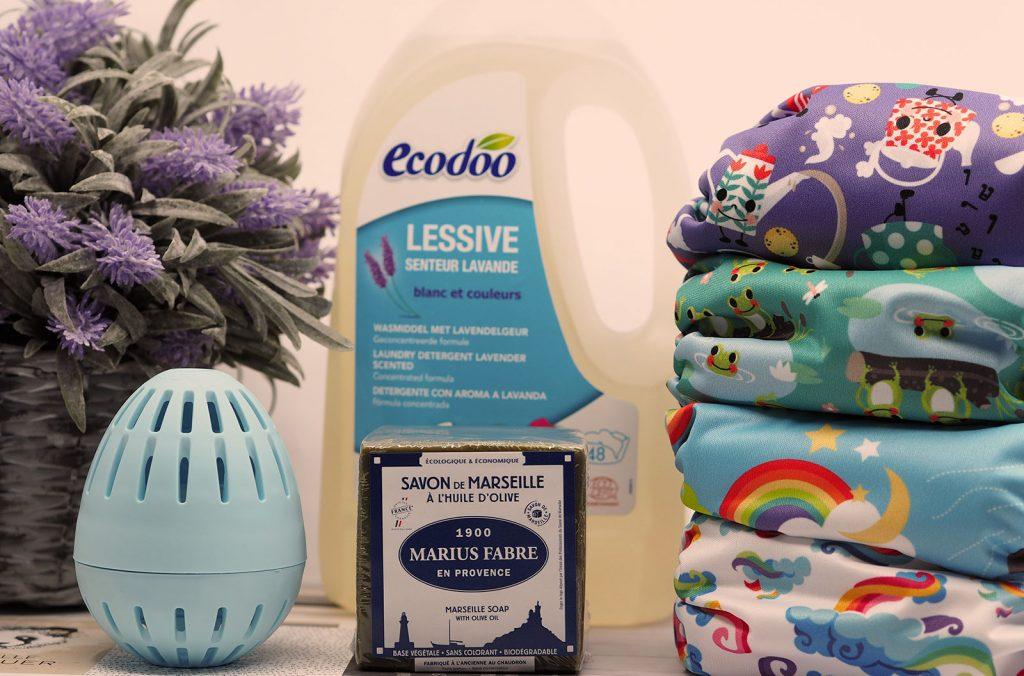 Lessive pour couches lavables : savon de marseille, Ecodoo, Eocegg