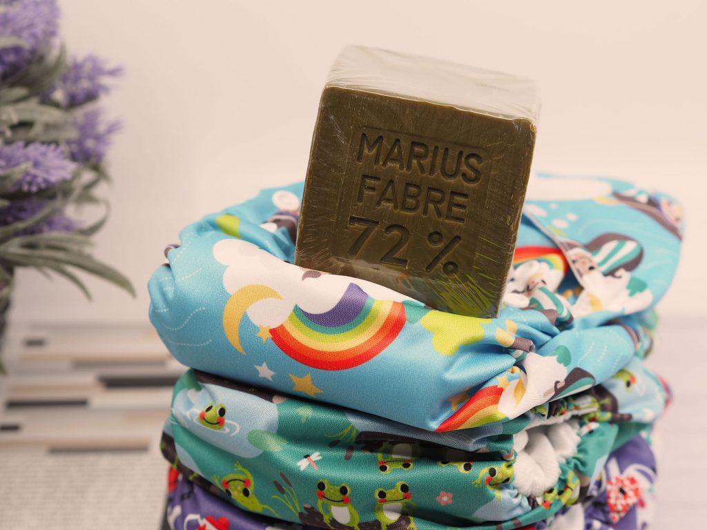 Lavage couches lavables : savon de marseille Marius Fabre