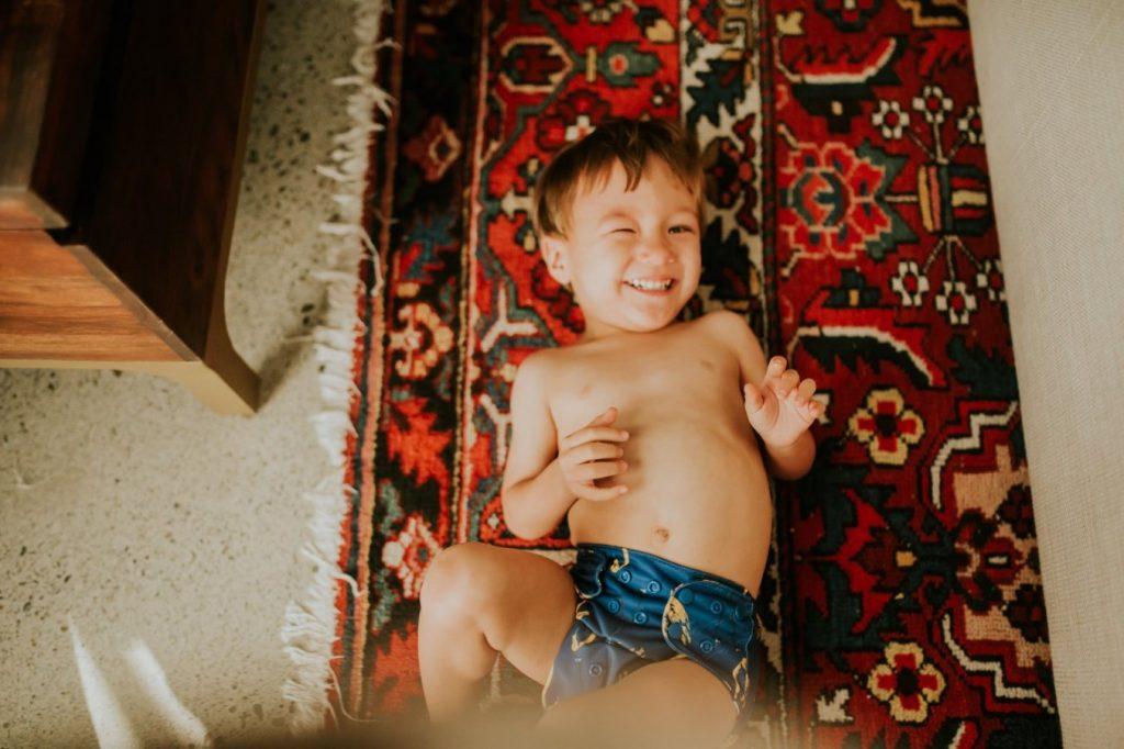 Enfant couche lavable motif